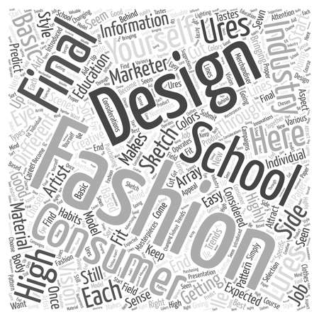 high school of fashion industry word cloud concept
