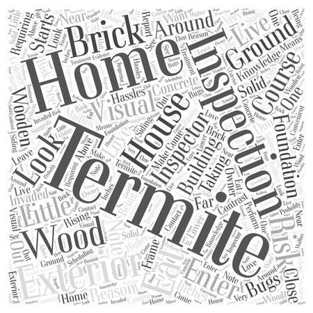 inspector: Termite Inspection Exterior word cloud concept Illustration