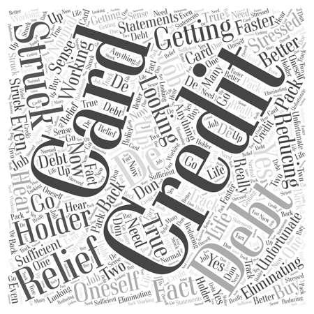 クレジット カードの債務救済の単語の雲の概念