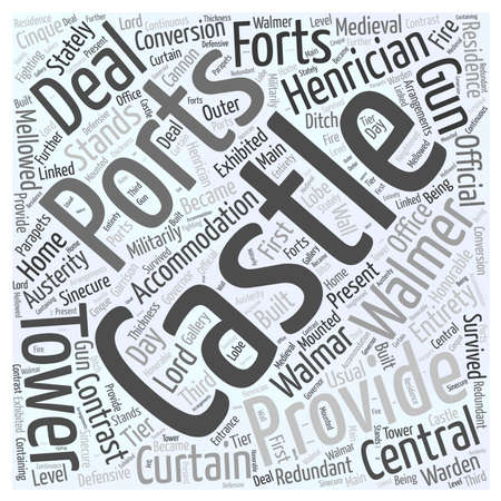 warden: Walmar Castle word cloud concept Illustration