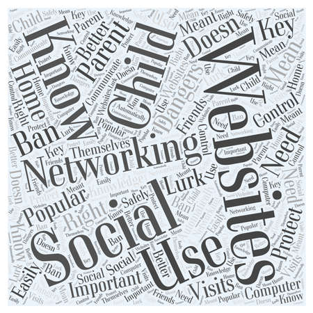 what: Parents What You Need to Know About Social Networking Websites word cloud concept Illustration