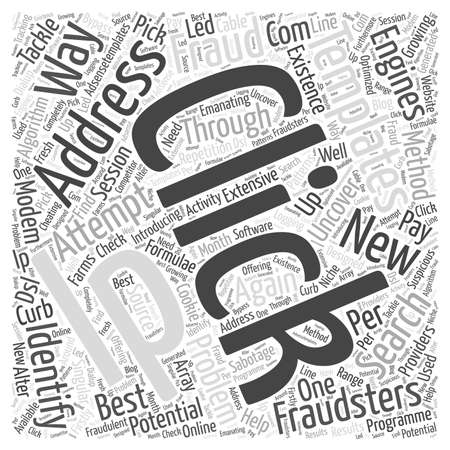 Ways to Identify and Tackle Click Fraud word cloud concept Çizim