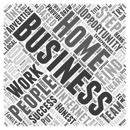 honest: Honest Home Based Business Review word cloud concept
