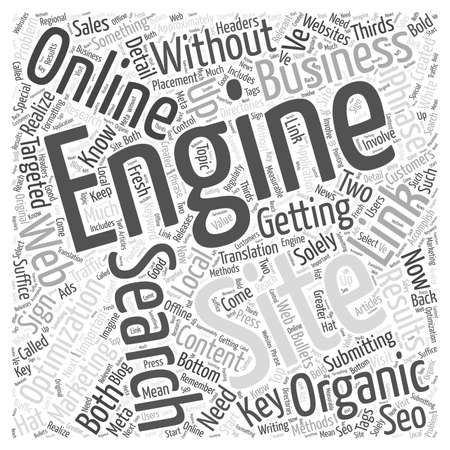 Marketing Online With Organic Search Engine Optimization word cloud concept