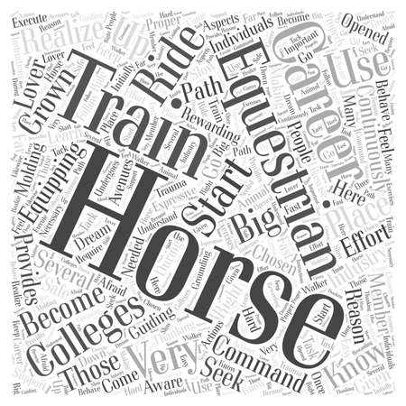 equestrian: equestrian colleges word cloud concept
