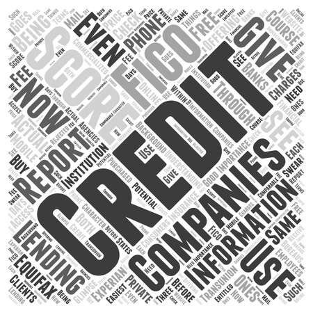 fico: Understanding what a credit score is word cloud concept Illustration