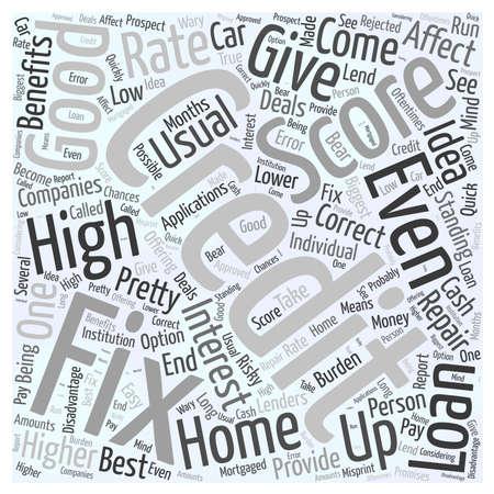 fix credit score word cloud concept 版權商用圖片 - 67228571