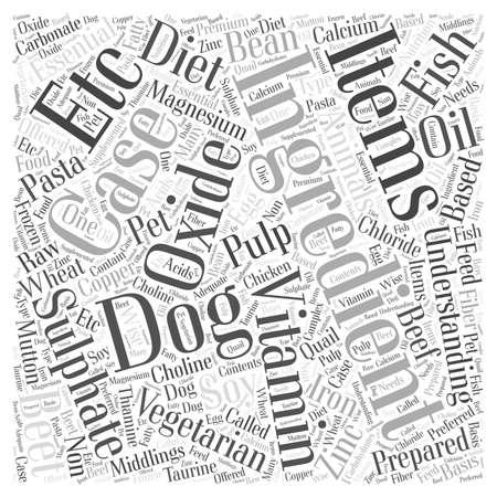 Understanding ingredients word cloud concept