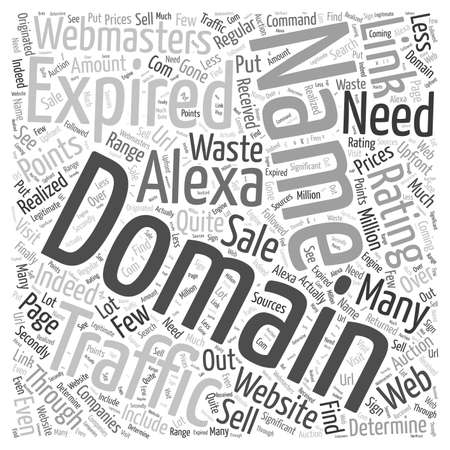 Get Traffic with Expired Domain Names word cloud concept