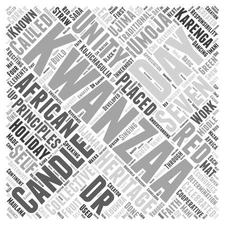 kwanzaa: Understanding the Holiday of Kwanzaa word cloud concept Illustration