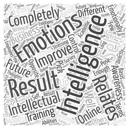 Emotional Intelligence The Online Training For The Future Of Business word cloud concept Banco de Imagens - 67229113