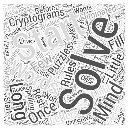 Cryptograms in Mind Puzzels woord wolk concept
