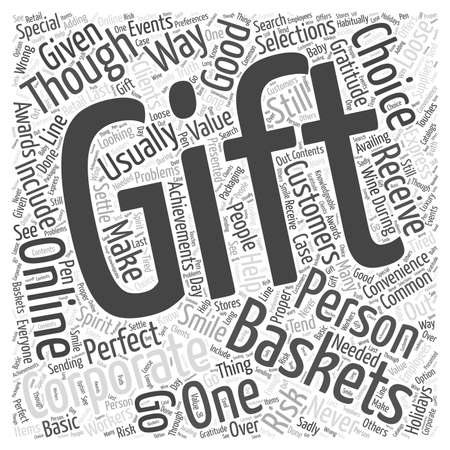 corporate gift: corporate gift basket online word cloud concept Illustration