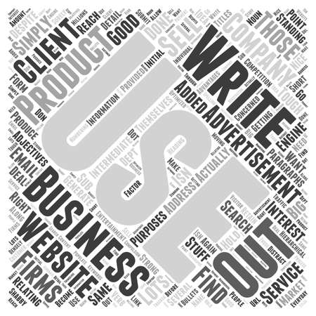 paragraphs: How to Write Business to Business Advertisements word cloud concept