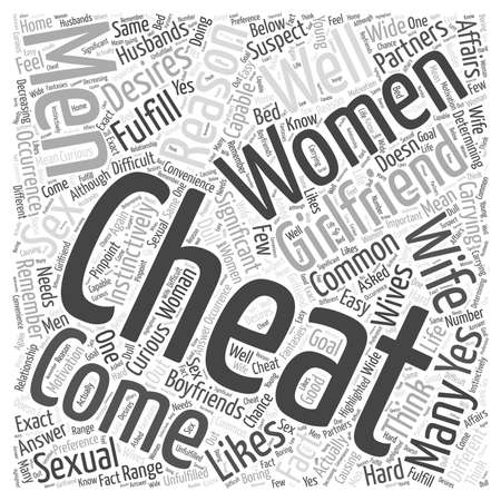 Why Do Women Cheat On Their Partners word cloud concept