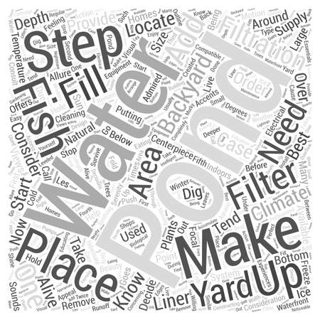 fish pond: How To Make Your Own Backyard Fish Pond word cloud concept Illustration