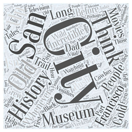 The Incredible History of San Francisco word cloud concept Ilustração