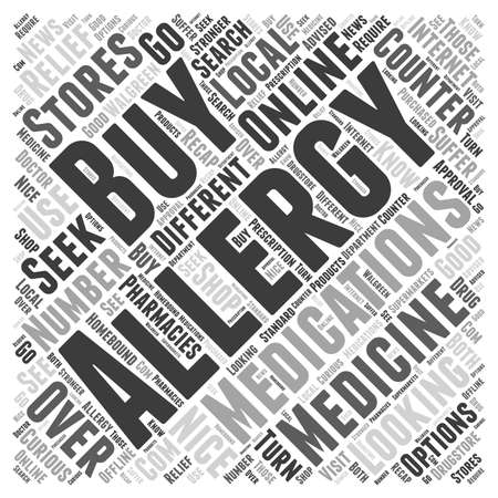 medications: How to Buy Allergy Medications word cloud concept