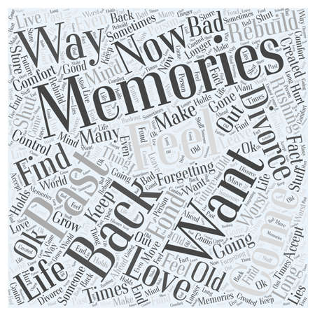 life memories and forgetting word cloud concept Иллюстрация
