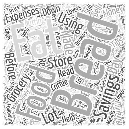 SM Money savings on food word cloud concept