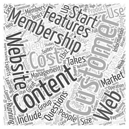 RUNNING A MEMBERSHIP WEBSITE by Membership website experts word cloud concept