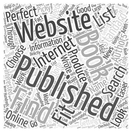 How to Find Book Publishers word cloud concept Çizim