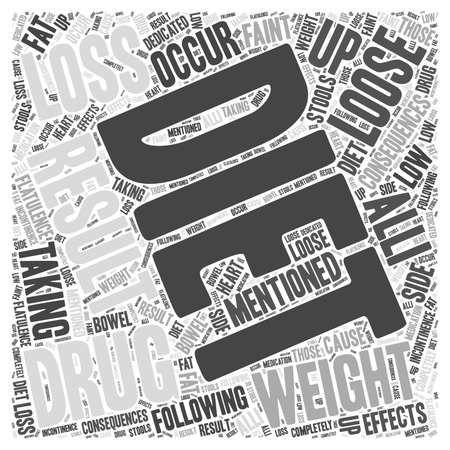 incontinence: Dieting and Weight Loss Drugs word cloud concept