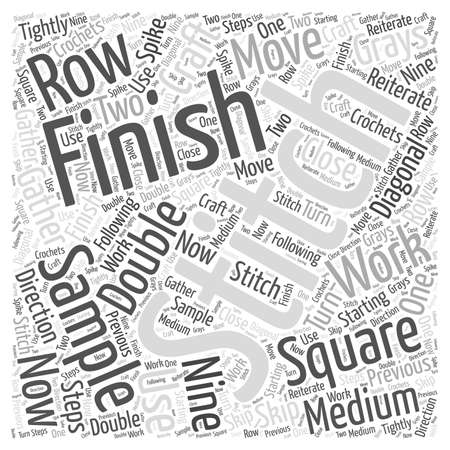 How to Finish the Sample Square in Craft word cloud concept