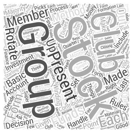 How To Form Stock Club word cloud concept Illusztráció