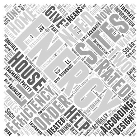 tasmania house energy star ratings word cloud concept