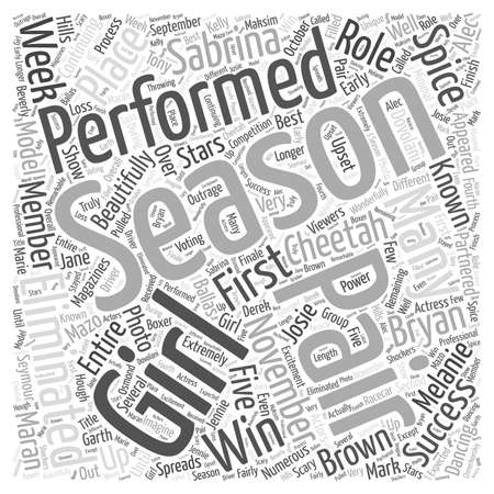 Continuing with Success Dancing with the Stars Season Five word cloud concept