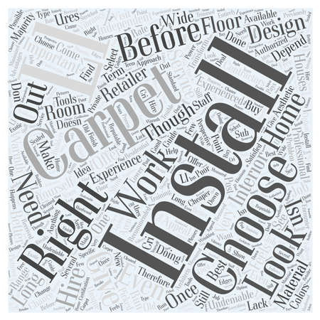 installer: Installing Carpet word cloud concept