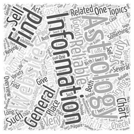 information about astrology word cloud concept Ilustração