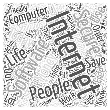 free internet security software word cloud concept