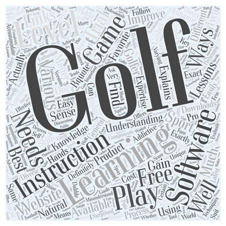 Golf Learning Software word cloud concept