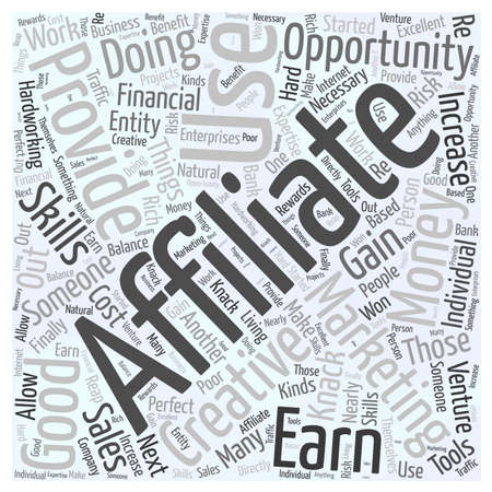 clicker: What is Affiliate Marketing word cloud concept Illustration