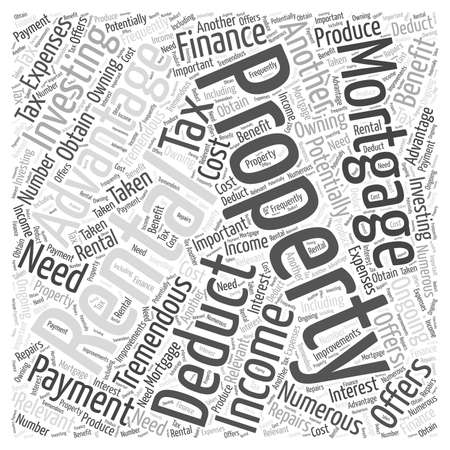 Rental Property Investment Offers Numerous Advantages word cloud concept