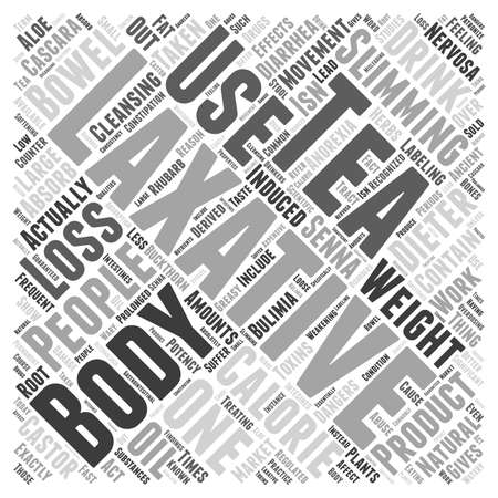 Laxatives And Weight Loss word cloud concept