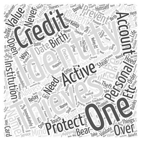 identity theft prevention protection word cloud concept