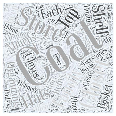 thrown: Organizing your Coat Closet word cloud concept