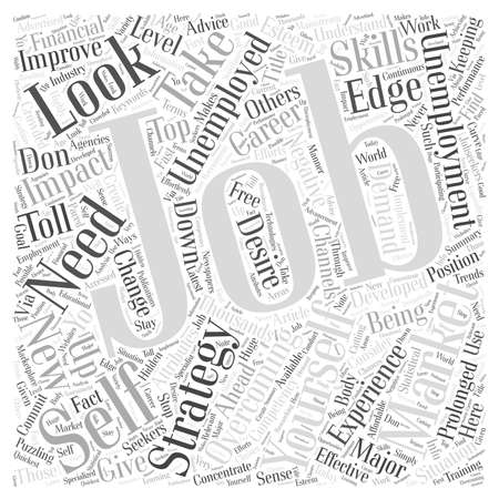Overcoming Unemployment In A Crowded Marketplace word cloud concept