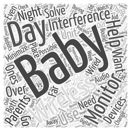 Wireless Baby Monitors Night Day word cloud concept