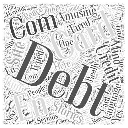 en: Card Com Credit Debt En Language Site word cloud concept Illustration