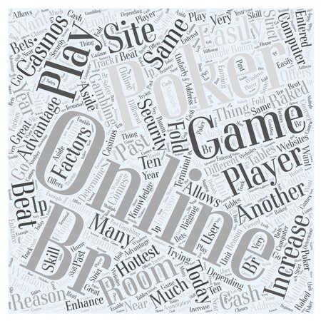 online poker games word cloud concept