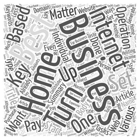 The Best Home Businesses Turn Key Operations word cloud concept