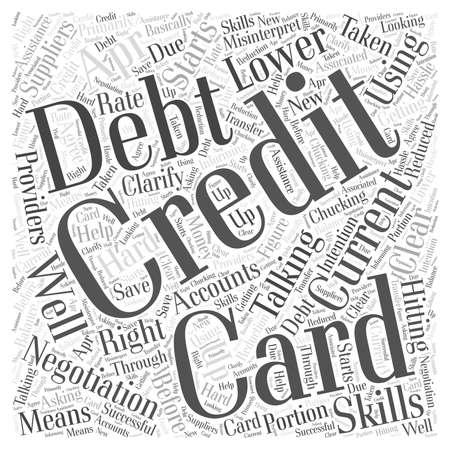 Credit Card Debt Negotiation word cloud concept