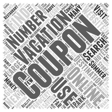 オンライン クーポン保存お金あなたの次の夏の休暇の単語クラウド コンセプト