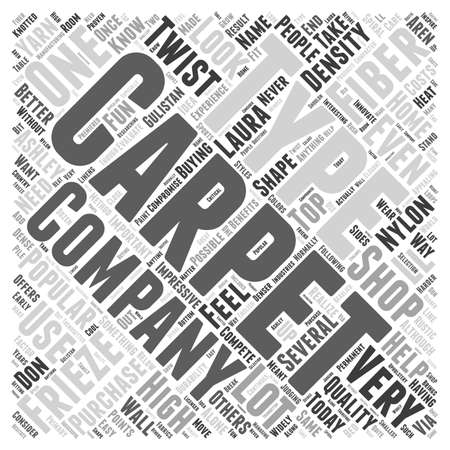 Shopping For Carpet word cloud concept