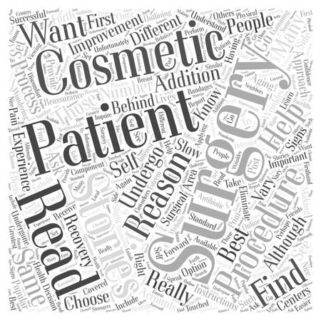 Cosmetic Surgery Patient Stories Why You Should First Read Them word cloud concept