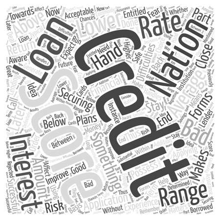 credit range score word cloud concept